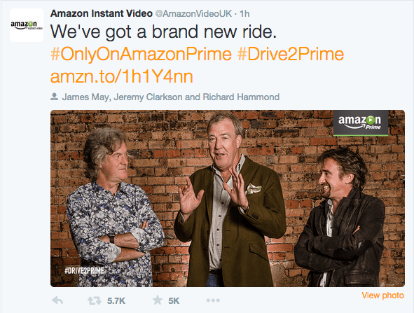 Top Gear Trio Sign Threeseries Car Show Deal With Amazon Prime - Car show on amazon
