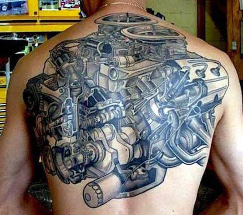 car tattoos 30 totally epic car tattoo ideas. Black Bedroom Furniture Sets. Home Design Ideas
