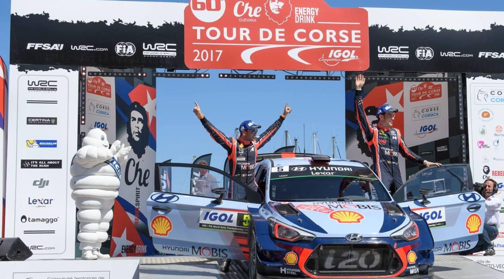 Hyundai Motorsport Wins WRC Tour de Corse in Double Podium Finish