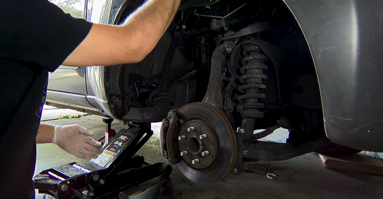 Remove the Wheel and Interior Wheel Wall