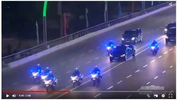 Кортеж Владимира Путина в Ташкенте (видео)