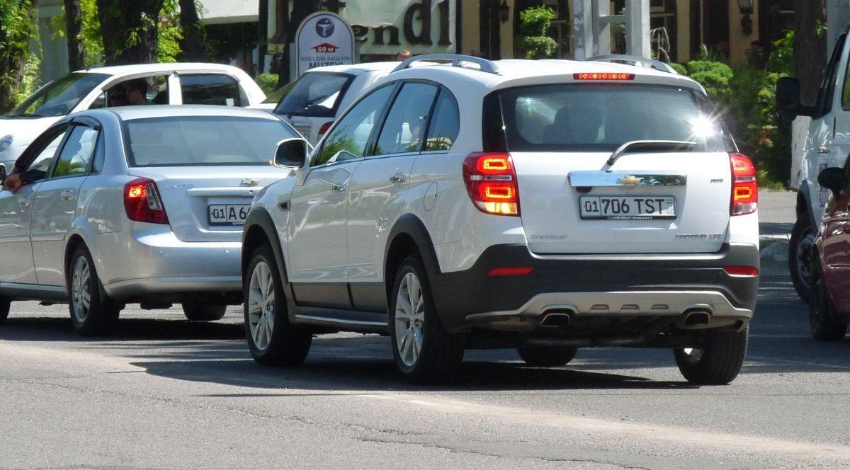 TST автомобильный номер СНБ - Службы госбезопасности Узбекистана СГБ