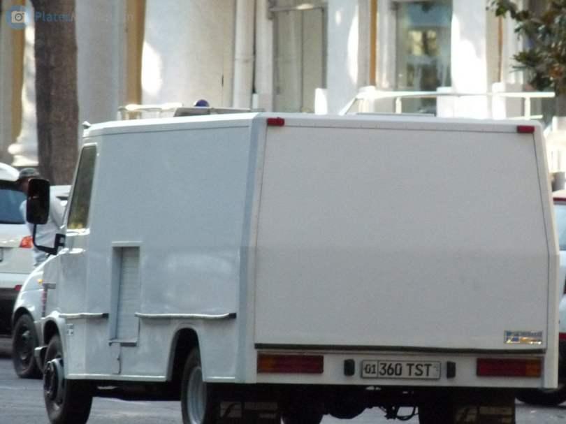 TST автомобильный номер СНБ - службы государственной безопасности Узбекистана СГБ