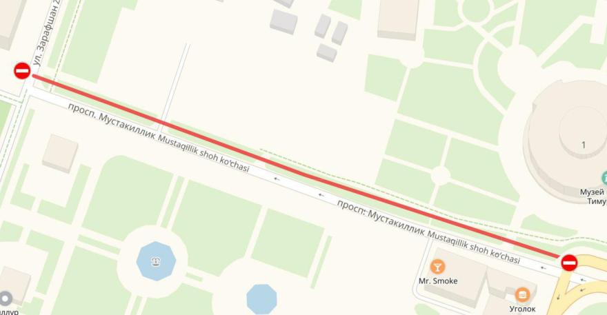 Карта перекрытия улиц для фестиваля Landshaft Open