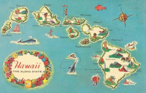 Image result for map of hawaii pretty