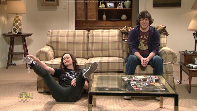 Ellen Page wants to hug you with her legs in friendship