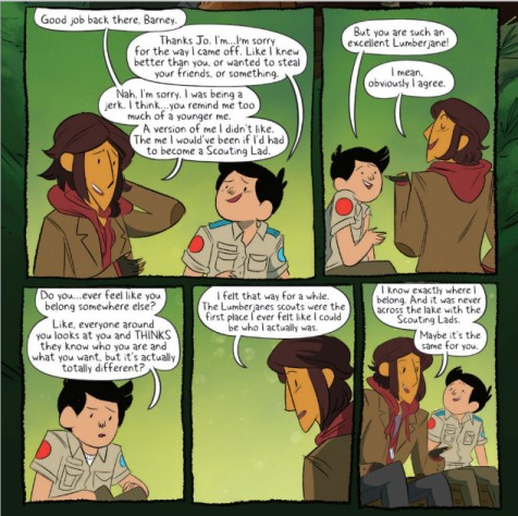 From Lumberjanes #17 with art by Brooke A. Allen.