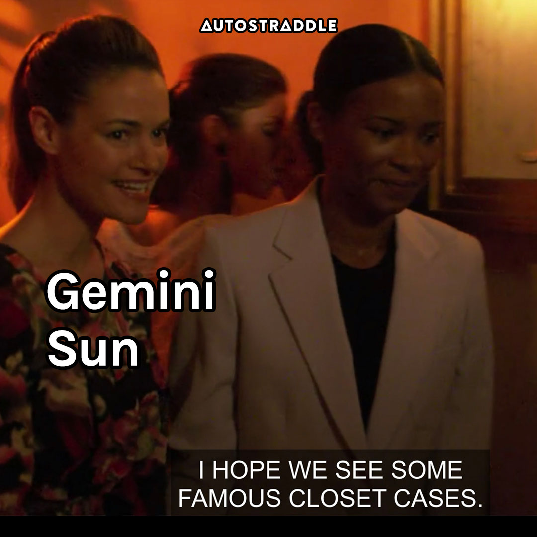 """Gemini Sun: Alice at an underground queer party """"I hope we see some famous closet cases."""""""