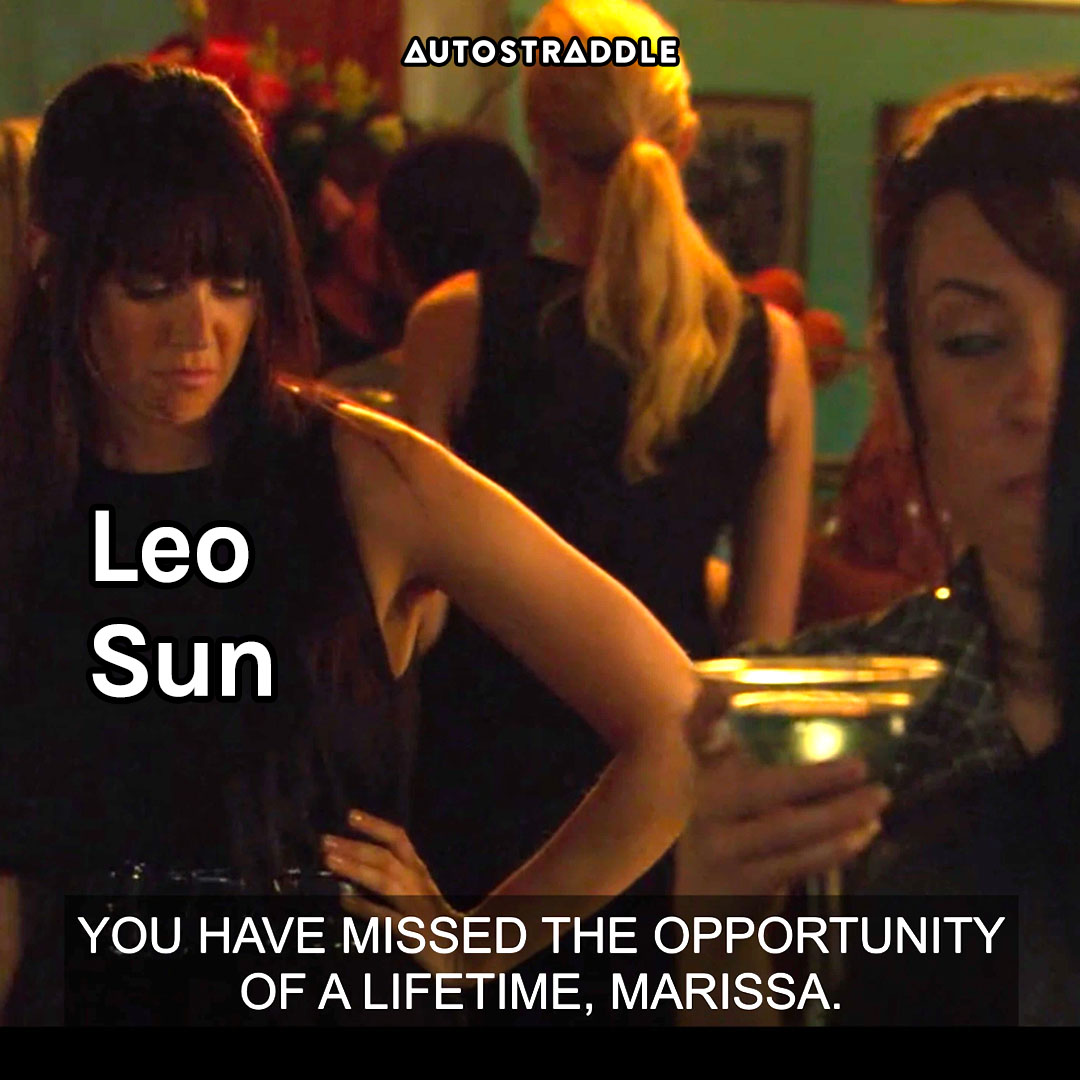 """Leo Sun: Jenny, hands on her hip """"You have missed the opportunity of a lifetime, Marissa."""""""