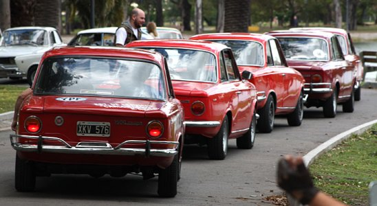 Salida a Navarro de los Fiat 1500 Coupé