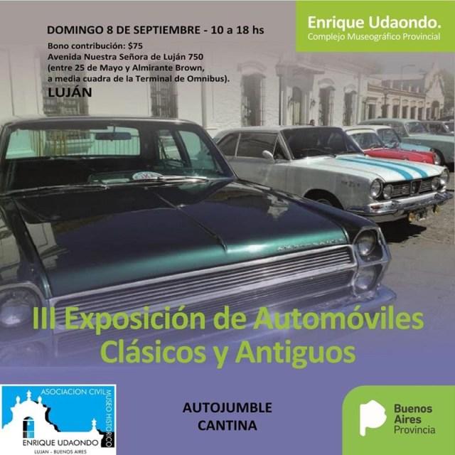 3ª Exposición de Autos Clásicos y Antiguos del Complejo Museográfico Provincial Enrique Udaondo.