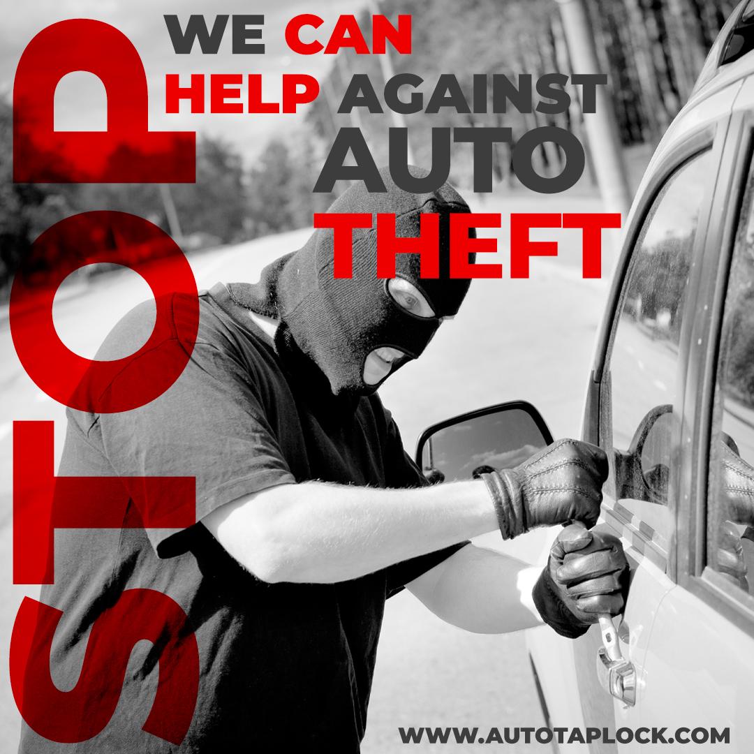 Autotaplock anti theft car lock