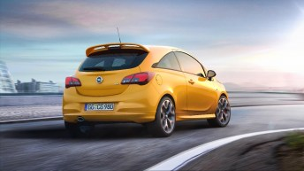 Eye-catcher: Clean lines and a prominent roof spoiler – the new Opel Corsa GSi looks the business from any angle, including the rear.