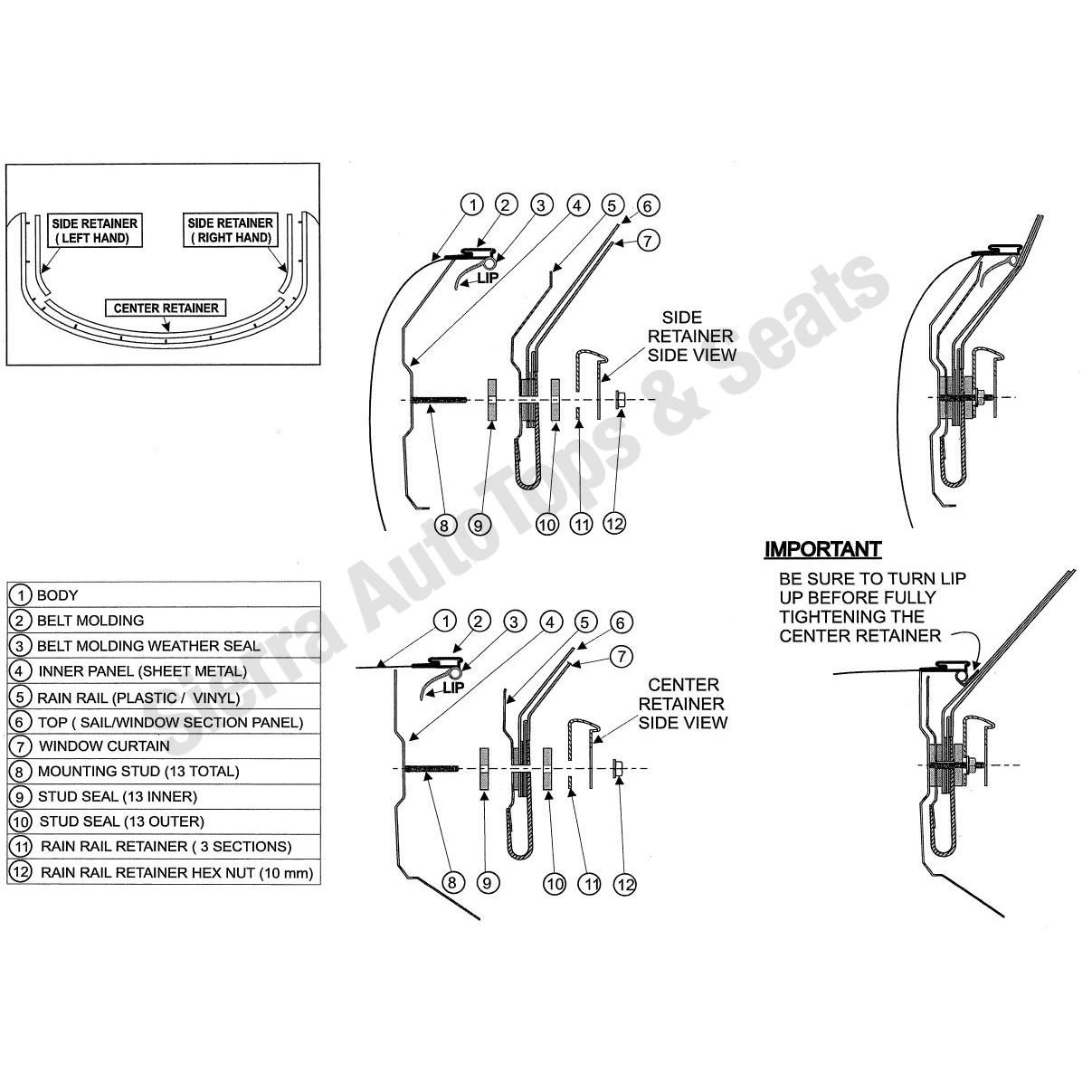 Replacement Rain Rail For Mazda Mx5 Miata