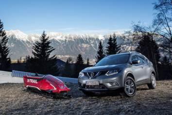Nissan lanza en Austria el primer trineo bobsleigh de siete plazas