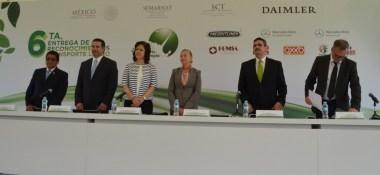 SEMARNAT entrega reconocimientos a empresas dentro del Programa Transporte Limpio