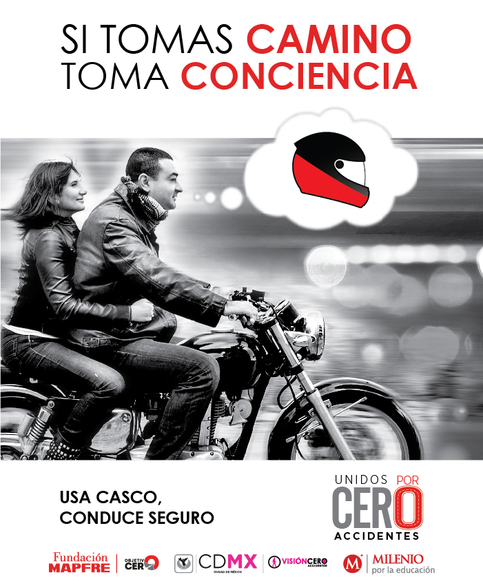 Usa Casco, conduce seguro