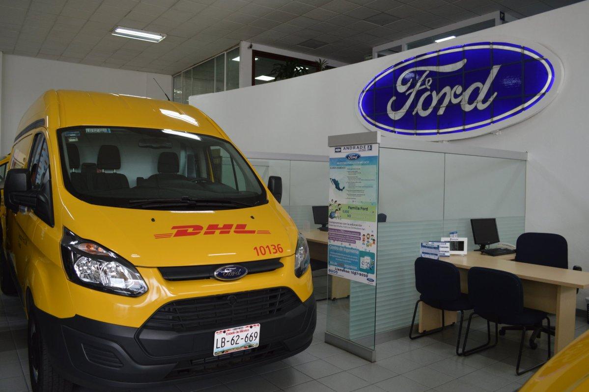 Grupo Andrade y Ford entregan 130 unidades a DHL