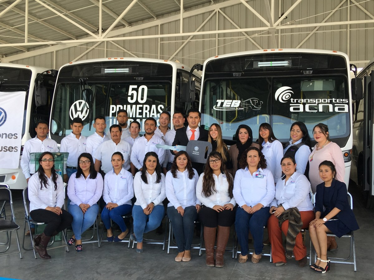 100 nuevos autobuses Volksbus para Transportes ACNA