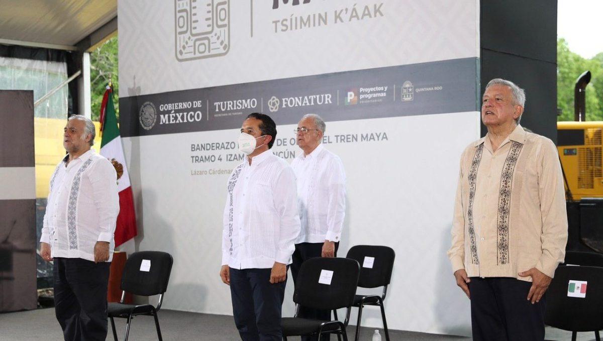 Arrancan obras de construcción del Tren Maya