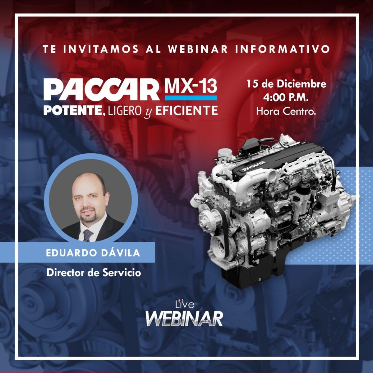 Impartirá Kenworth webinar sobre su motor PACCAR MX-13