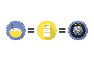 Duplicará Goodyear uso de ceniza de cáscara de arroz en sus llantas