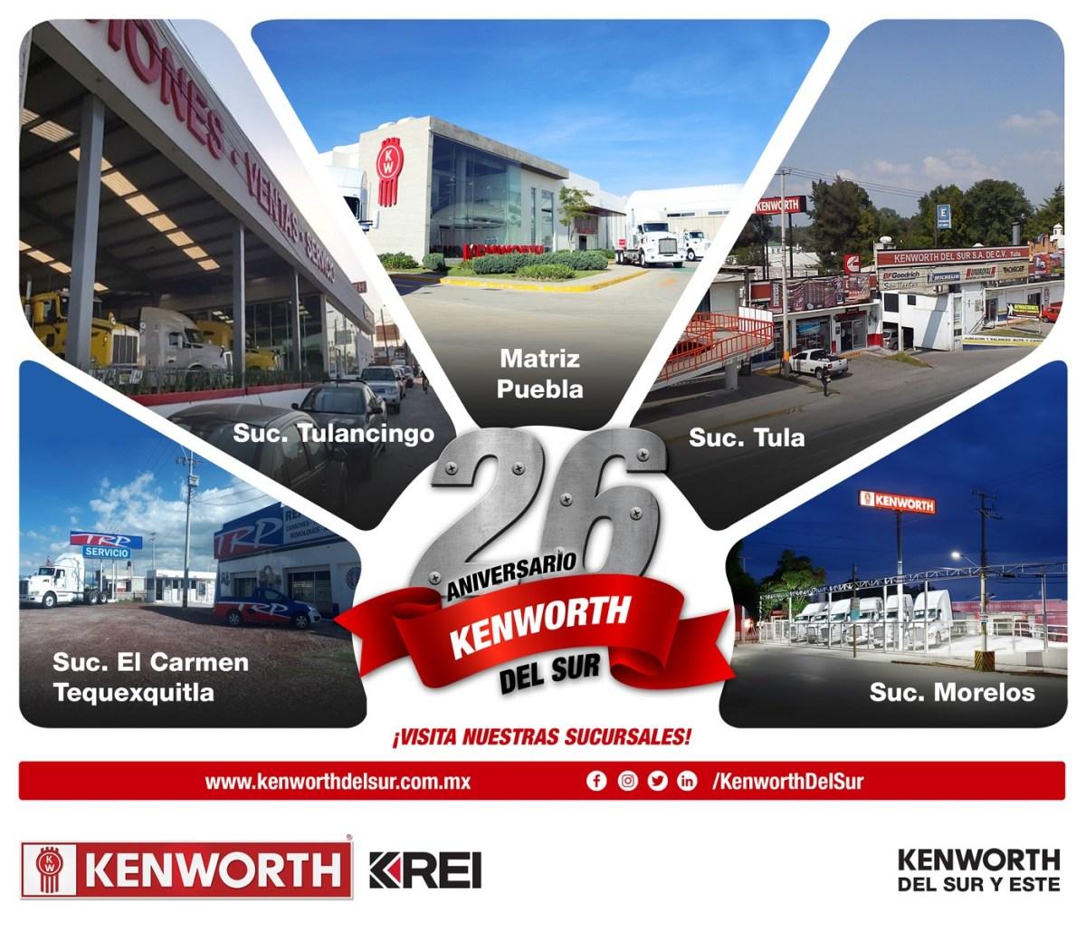 Kenworth del Sur, de manteles largos; celebra 26 años de operaciones