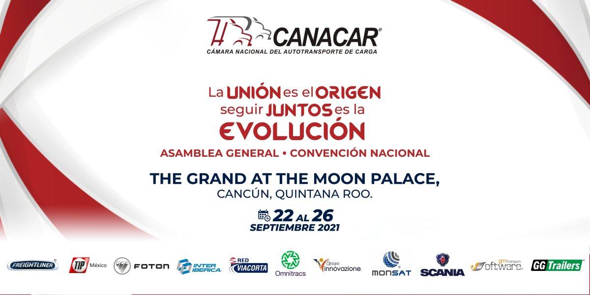 En septiembre, Convención Nacional y Asamblea CANACAR 2021