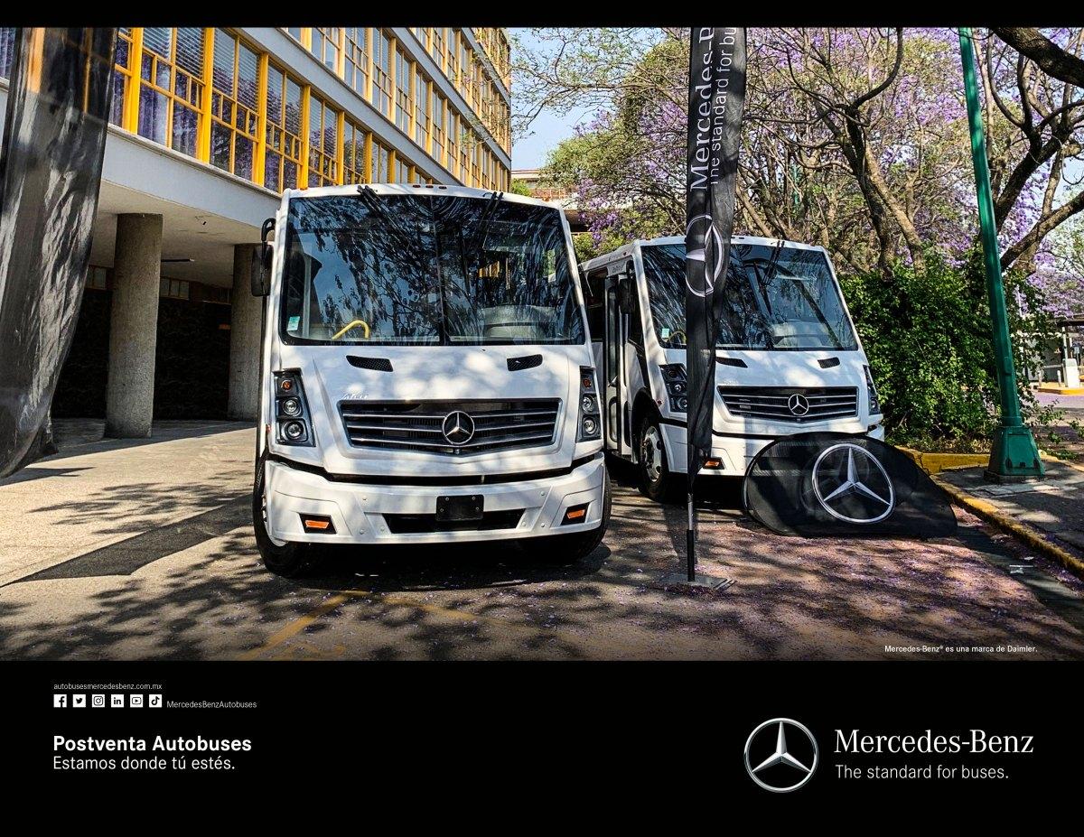 Entrega Mercedes-Benz Autobuses dos unidades a FI de la UNAM