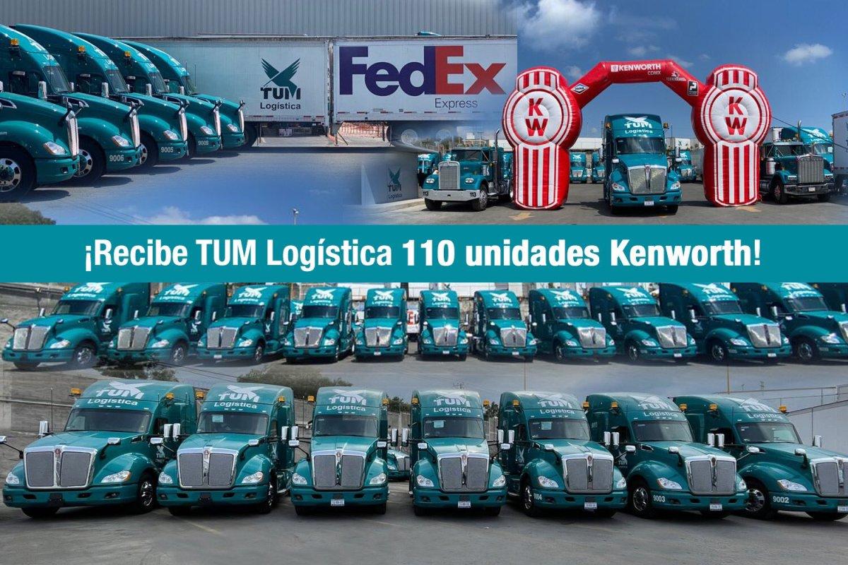 Adquiere TUM Logística 110 tractocamiones Kenworth T680