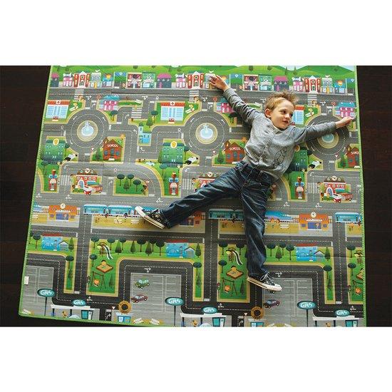 tapis de jeu geant resersible playmat ville campagne