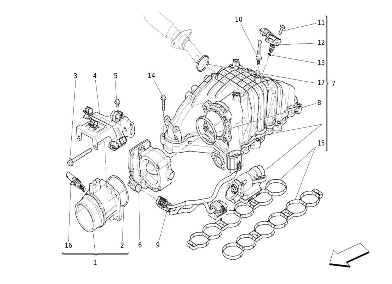 Intake Manifold And Throttle Body
