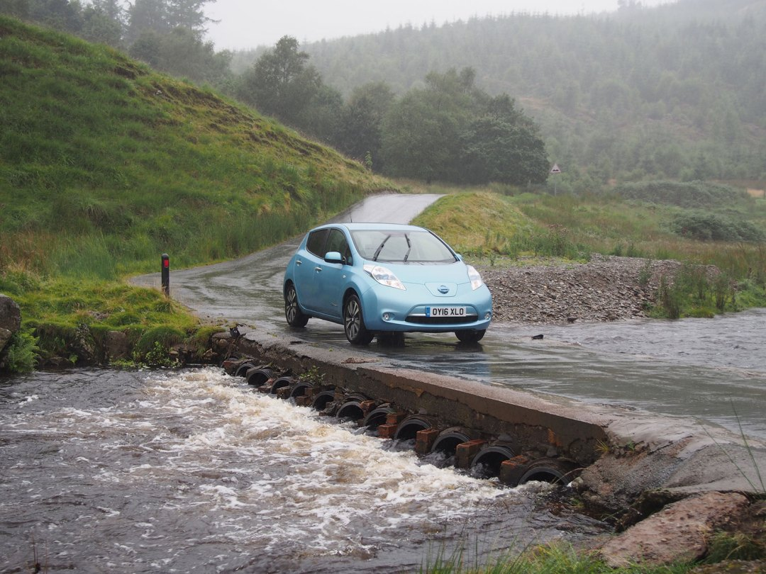 Nissan Leaf 30kWh in Wales 2016 - Near the Devil's Staircase