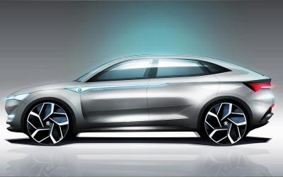 Skoda electrifies with Vision E design study, 5 EVs by 2025