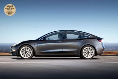 Autovolt awards 2017 Tesla Model 3