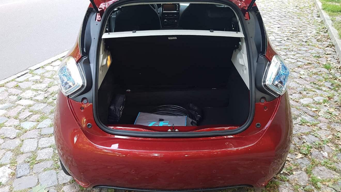 Blick in den Kofferraum des Renault Zoe. Foto: Mertens