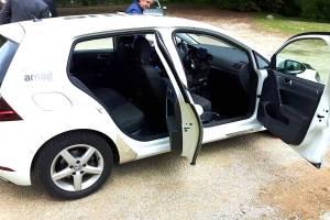 Der nachgerüstete VW Golf. Foto: 2b Ahead