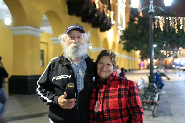 une belle rencontre dans les rues de Lima