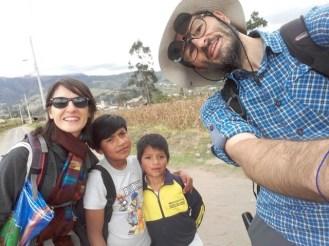 enfants rencontrés en allant au Lechero