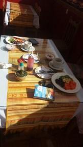 copieux petit déjeuner dans notre deuxième hôtel