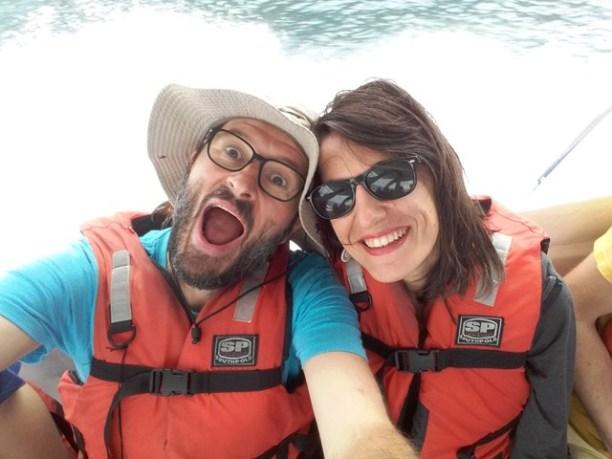 sur le bateau vers l'isla de la plata