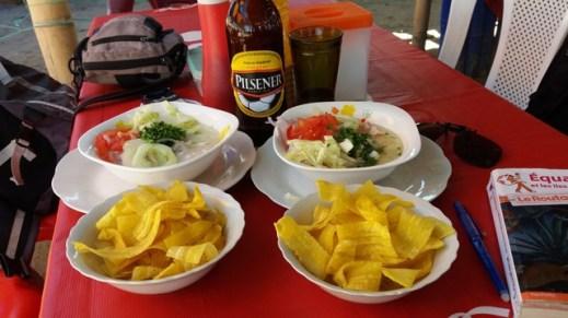 déjeuner sur le front de mer