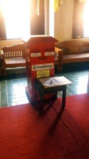 boite aux lettres dans le temple