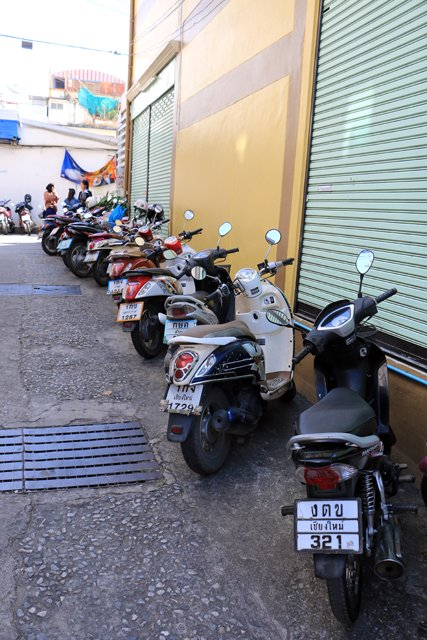 scooters à Lamphun