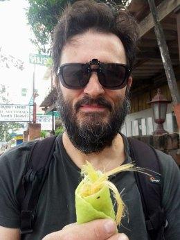 Crêpe à la barbe à papa à Ayyuthaya