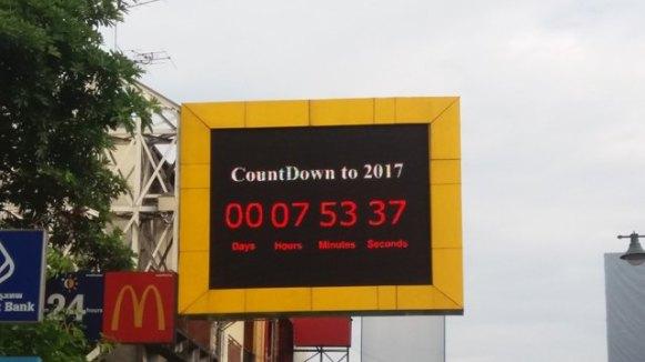 le compte à rebours avant 2017