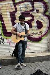 musicien dans le quartier Taxim à Istanbul