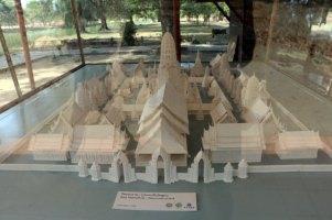 la maquette de Wat Mahathat à Ayutthaya