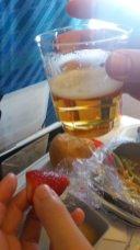premier dîner dans l'avion
