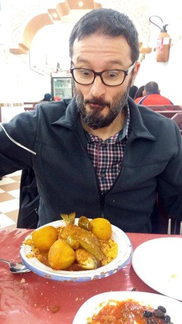 couscous au poisson. dîner à Pasta Casa